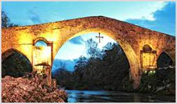 Puente Romano en Cangas de Onis, Picos de Europa